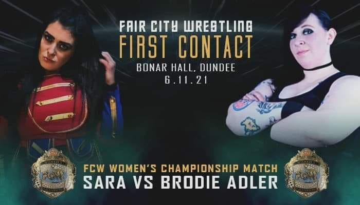 Sara Marie-Taylor vs. Brodie Adler - FCW First Contact graphic