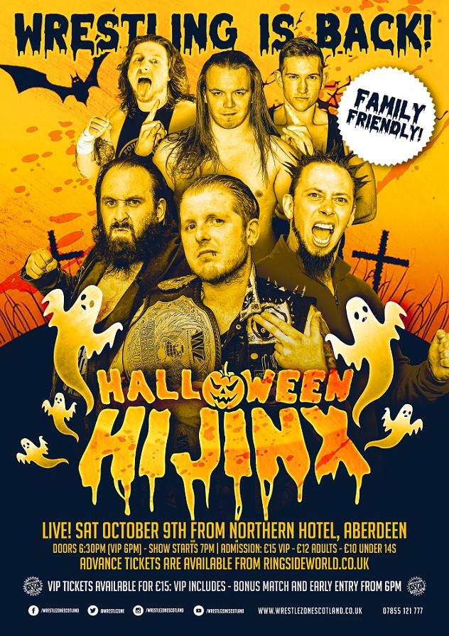 WrestleZone Halloween Hijinx 2021 poster